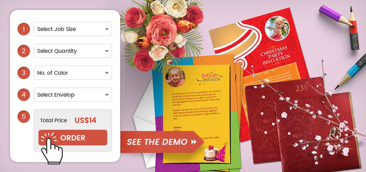 Web To Print Software For Wedding Card Invitation Card